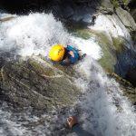 Canyoning Felsrutschen