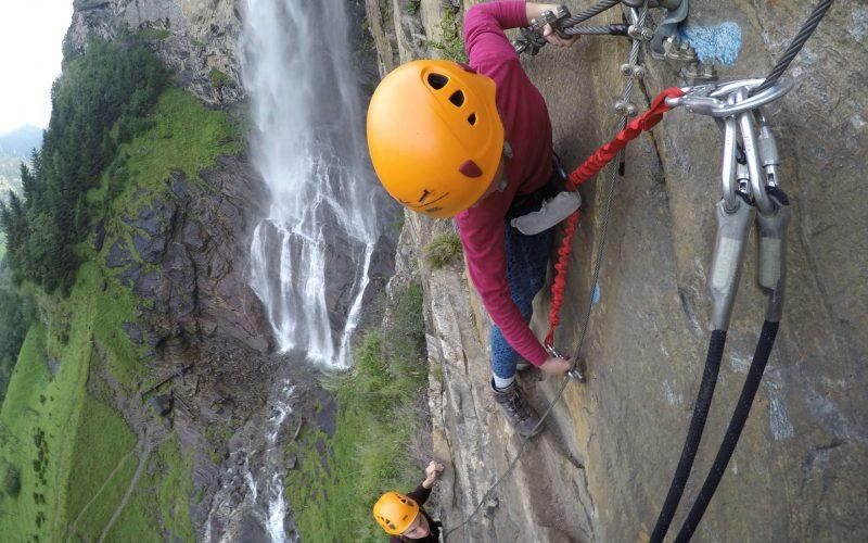 Aufstieg Klettersteig